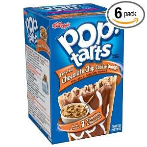 Pop Tarts Toaster Pastries, Frosted Chocolate Chip Cookie Dough, 14.1