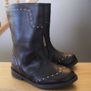New Toddler Girl Brown Boot Shoe Heart Casual Shoe Dress Size Cowgirl