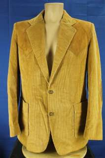 MacMurray California 42 Brown Corduroy & Suede Western Suit Coat