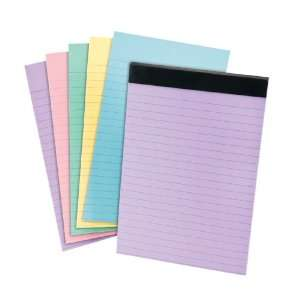 Ampad 20 727 Embassy Writing Tablets, 6X9 Assorted Pastel Colors ( 24