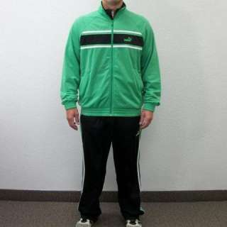 New Mens Puma Agile Track Suit   Jacket & Pants   Green & Black