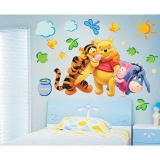 Winnie the Pooh Friends Peel Stick Wall Art Sticker Decal(hugging