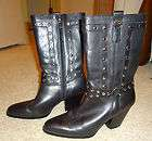 EUC Womens Harley Davidson Strut Black Leather Motorcycle Boots   Sz