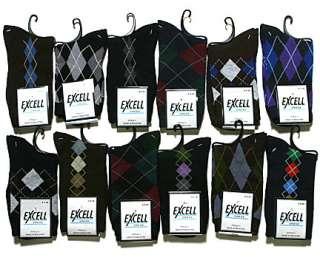 12 Pairs Womens Cotton Argyle Novelty Print Dress Socks