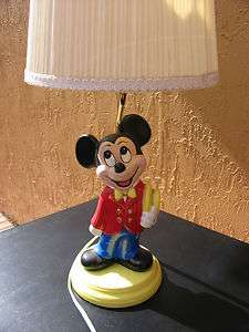 Mickey Mouse Disney Table Lamp 1992