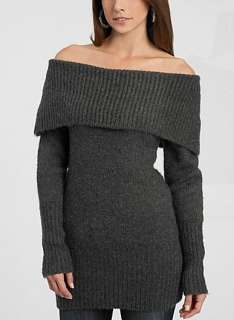 NEW GUESS GREY VAMP SWEATER OFF SHOULDER TOP XS, S, M