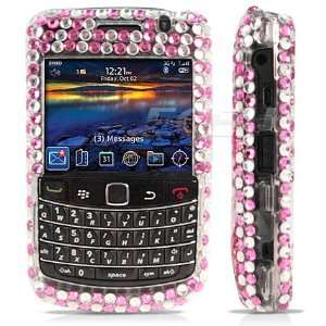 Ecell   PINK HEARTS 3D CRYSTAL BLING CASE FOR BLACKBERRY