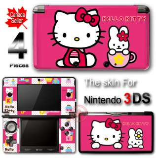 Hello Kitty Pink SKIN VINYL STICKER DECAL COVER #3 for Nintendo 3DS