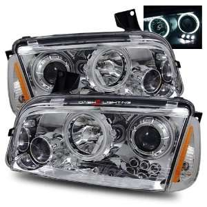 com 06 10 Dodge Charger CCFL Halo Projector Headlights Corner Lights
