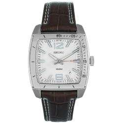 Seiko Mens Casual Leather Strap Watch