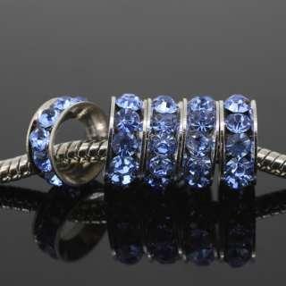 Bulk Wholesale Crystal European Bead Fit Charm Bracelet