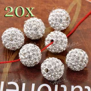 Clear Crystal Disco Ball Round Beads Jewelry Findings Rhinestone DIY