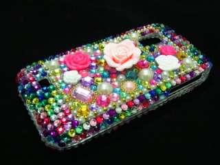 Crystal Flower Hard Case Cover for Samsung Fascinate i500 MF US