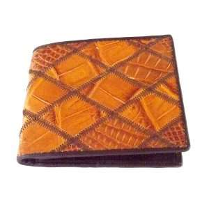 100 % Genuine Crocodile Leather Zag Bifold Mens Wallet from Thailand