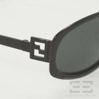 Fendi Vintage Black Onyx Small Round Frame Sunglasses FS 195
