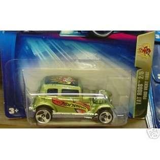 Hot Wheels Mattel Hot Wheels 2004 Tat Rods 164 Scale Green 1932 Ford