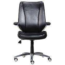 Black Contemporary Bonded Leather Executive Chair
