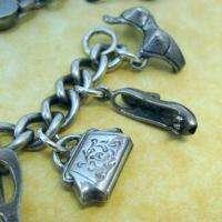Vintage Sterling Silver DIVA GLAMOUR GIRL CHARM BRACELET w/RARE Charms