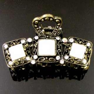 1pc rhinestone crystal Antiqued hair claw clip