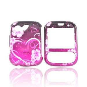 For LG Remarq LN240 Hard Case Flowers Heart PURPLE PINK
