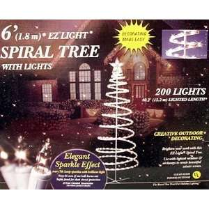 GE Random Sparkle EZ Light 6 Spiral Christmas Tree