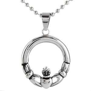 Out Claddagh Circle on a 24 Inch Chain West Coast Jewelry Jewelry