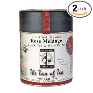 The Tao of Tea, Rose Melange Black Tea, Loose Leaf, 3.5 Ounce Tins