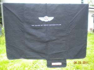 HARLEY DAVIDSON 100 YEAR MOTORCYCLE COVER BLANKET 60X60