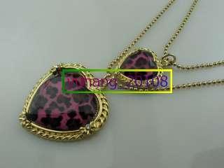 New Betsey Johnson Heart shaped necklace bracelet earrings Set