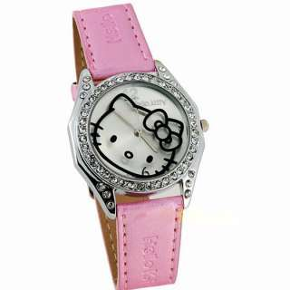 NEW hello kitty women watches bowknot cute lady wristwatch crystal KT