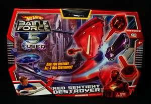 Hot Wheels Car Battle Force 5 Red Sentient Destroyer Track Set Toy