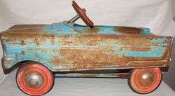 Vintage Metal PEDAL CAR Tee Bird Blue T Ball Bearing Ride On M Murray