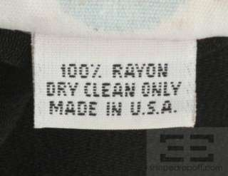Betsey Johnson Vintage Black Knit Sleeveless Mock Neck Dress Size