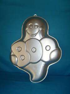 Wilton cake pan Ghost Halloween cute boo 1988