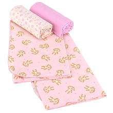 Koala Baby Receiving Blankets   3 Pack   Pink Monkey   Babies R Us