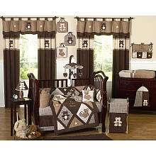 JoJo Designs Chocolate Teddy Bear Collection 9 Piece Crib Bedding Set