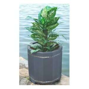 Planter, Recycled Plastic, 20H, Gray Patio, Lawn