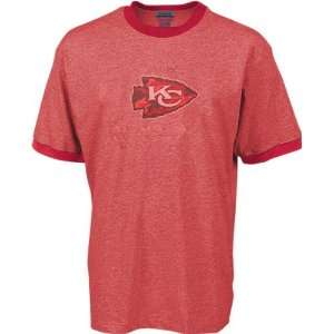 Kansas City Chiefs Red Camo Logo Ringer Tee