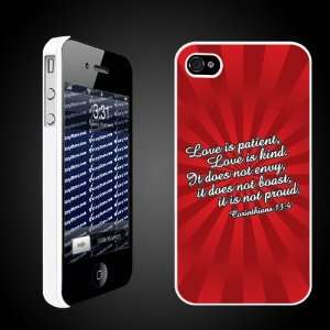 Day Corinthians 134   iPhone Hard Case   White Protective iPhone 4