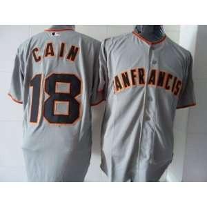 2012 San Francisco Giants #18 Matt Cain Grey Jersey