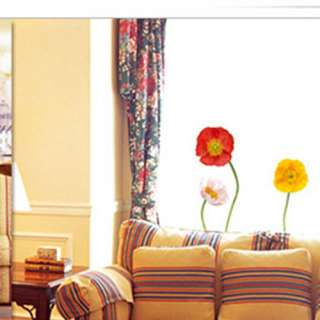 decor accents self adhesive wall sticker poppy flowers ss 58205