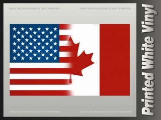 United States Canada Flag Sticker USA CAN American Canadian Decal F1