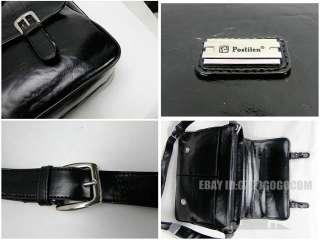 New Mens fashion leather shoulder bag messenger hand laptop big