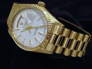 Mens Rolex 18kt 18k Yellow Gold Day Date President Watch