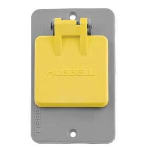 KELLEMS 3058H Outlet Box Lift Cover,1.572In Dia