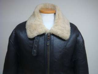 VINTAGE USAAF US AIR FORCE TYPE B 3 SHEARLING SHEEPSKIN JACKET SZ