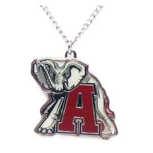 Alabama Crimson Tide Elephant   NCAA Logo Pendant Necklace