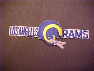 LOS ANGELES RAMS Logo VINTAGE PATCH mint unused