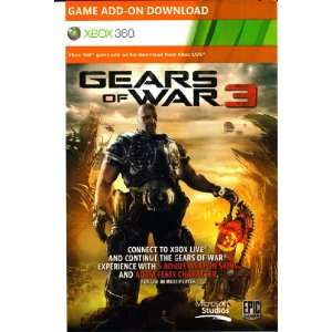 Gears of War 3 ADAM FENIX Character and 5 Weapon Skins DLC