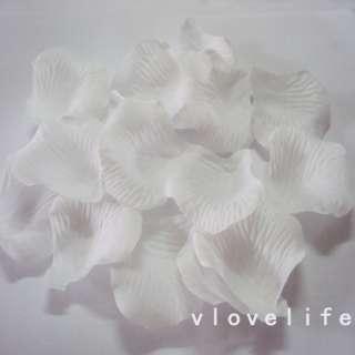 1000 White Silk Rose Petals Wedding Party Flower Favors
